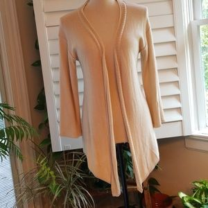 Ann Taylor Ivory Open Front Cardigan Sz S